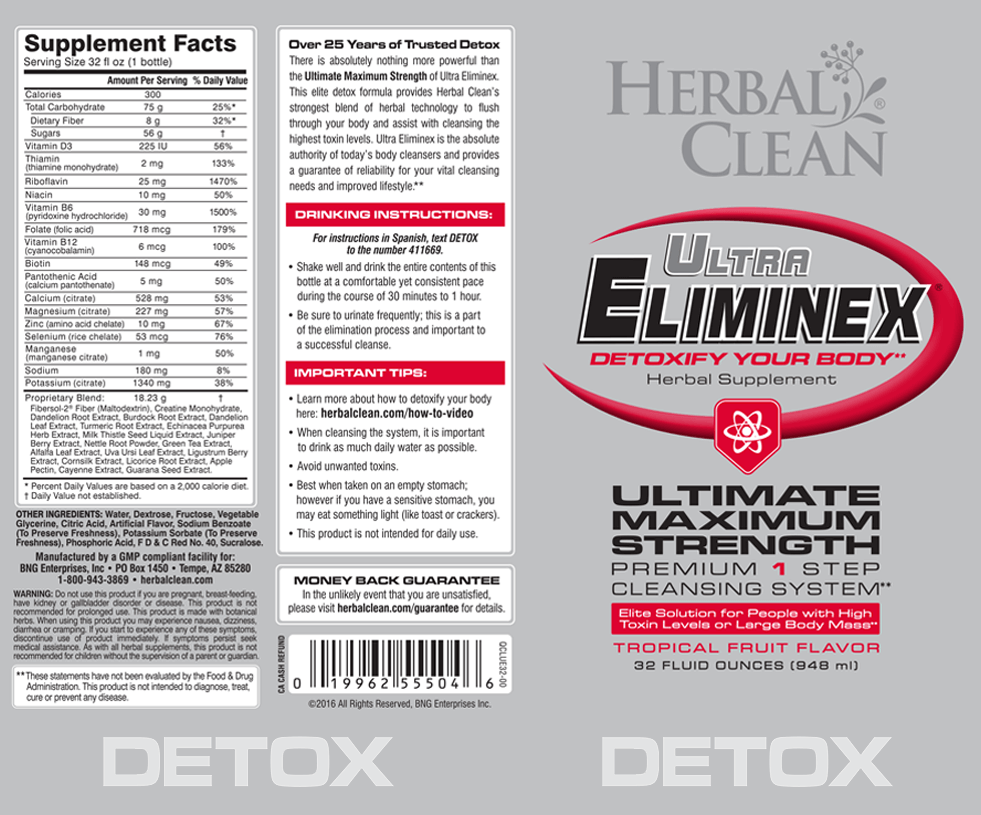 Ultra eliminex ingredients