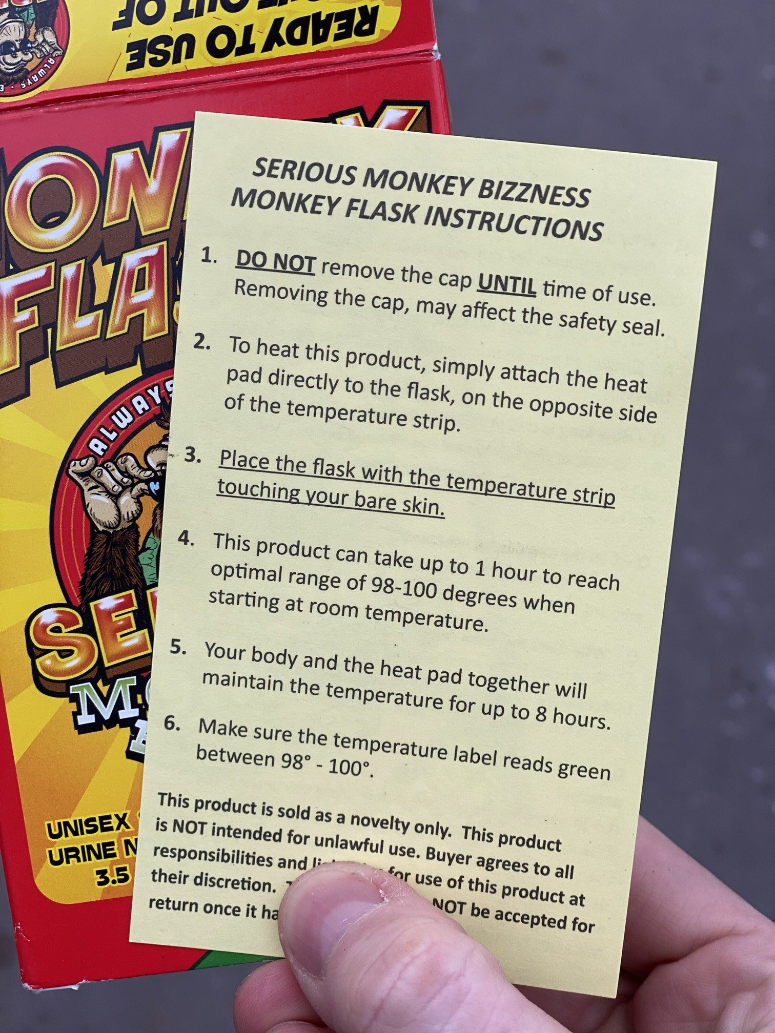 monkey whizz instructions